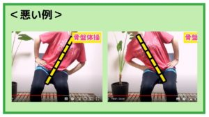 ②骨盤の左右動作(側方斜傾)